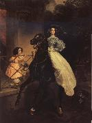 Karl Briullov Rider.Double Portrait of Giovanina and Amazilia Pacini oil painting picture wholesale